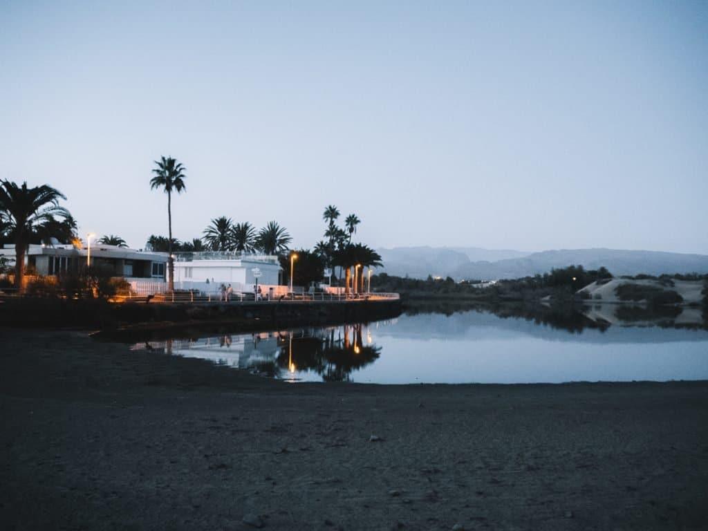 Een van de mooiste plekken van het eiland zijn de duinen van Maspalomas in het zuiden van Gran Canaria