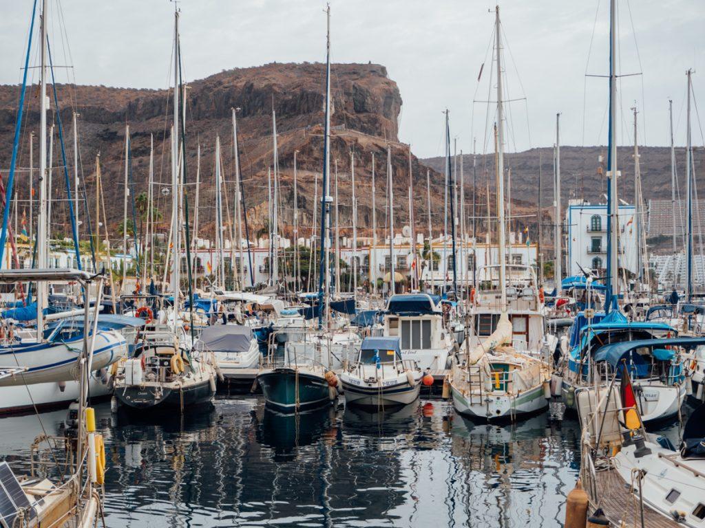 De haven op Gran Canaria