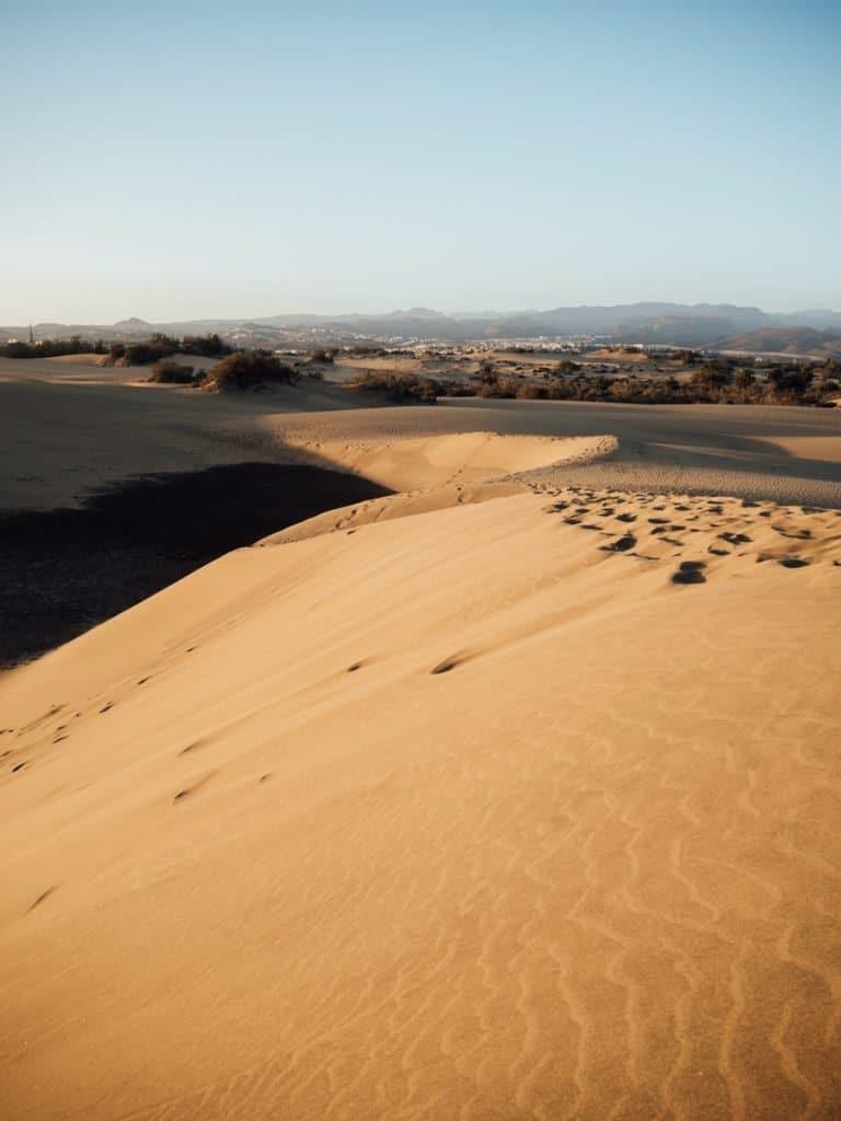 De gouden duinen van Maspalomas
