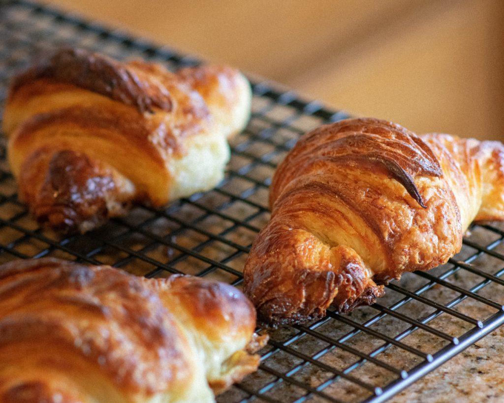 Croissants net uit de oven