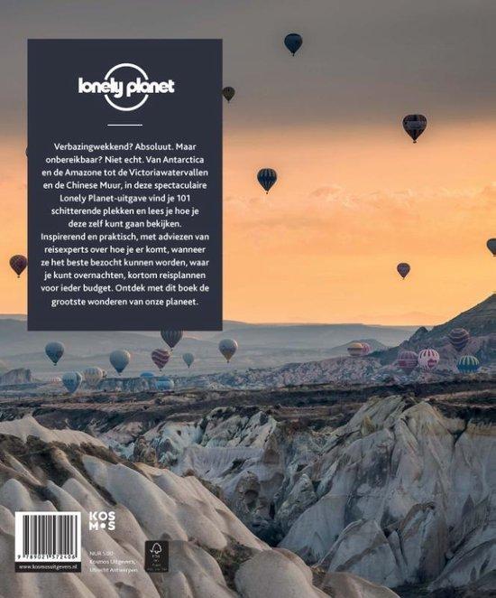Achterkant van het boek van de Lonely Planet