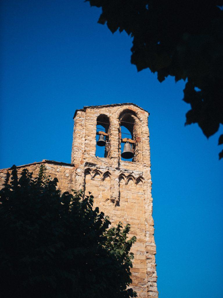 De oude kerktoren van Arezzo