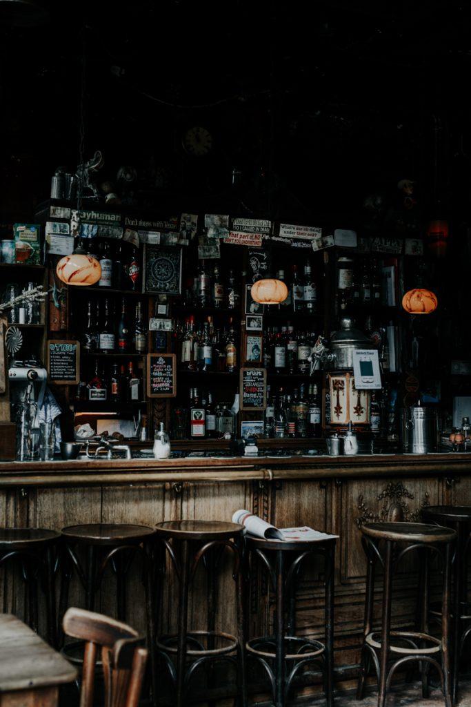 Bar van binnen in Amsterdam