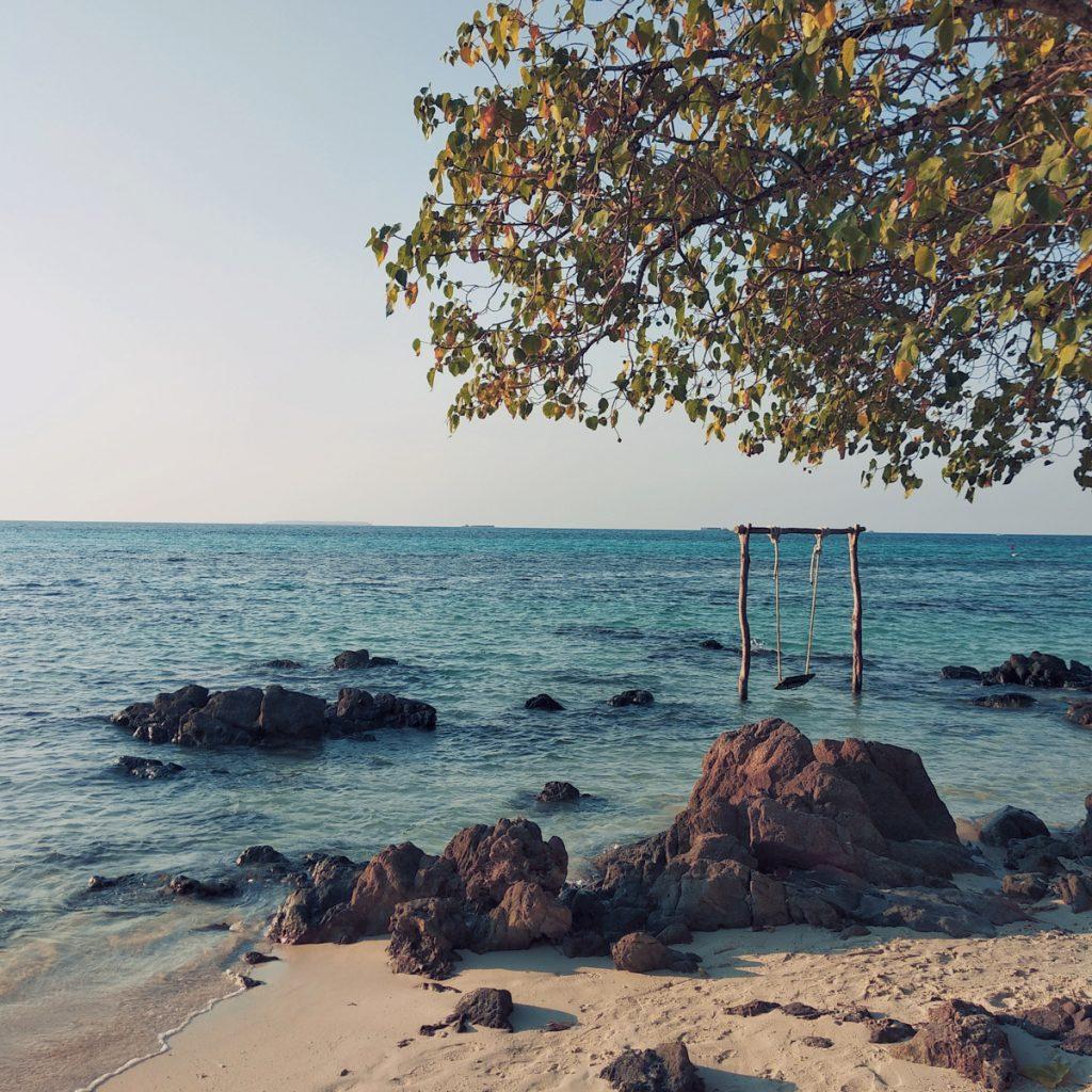 Schommel in de zee
