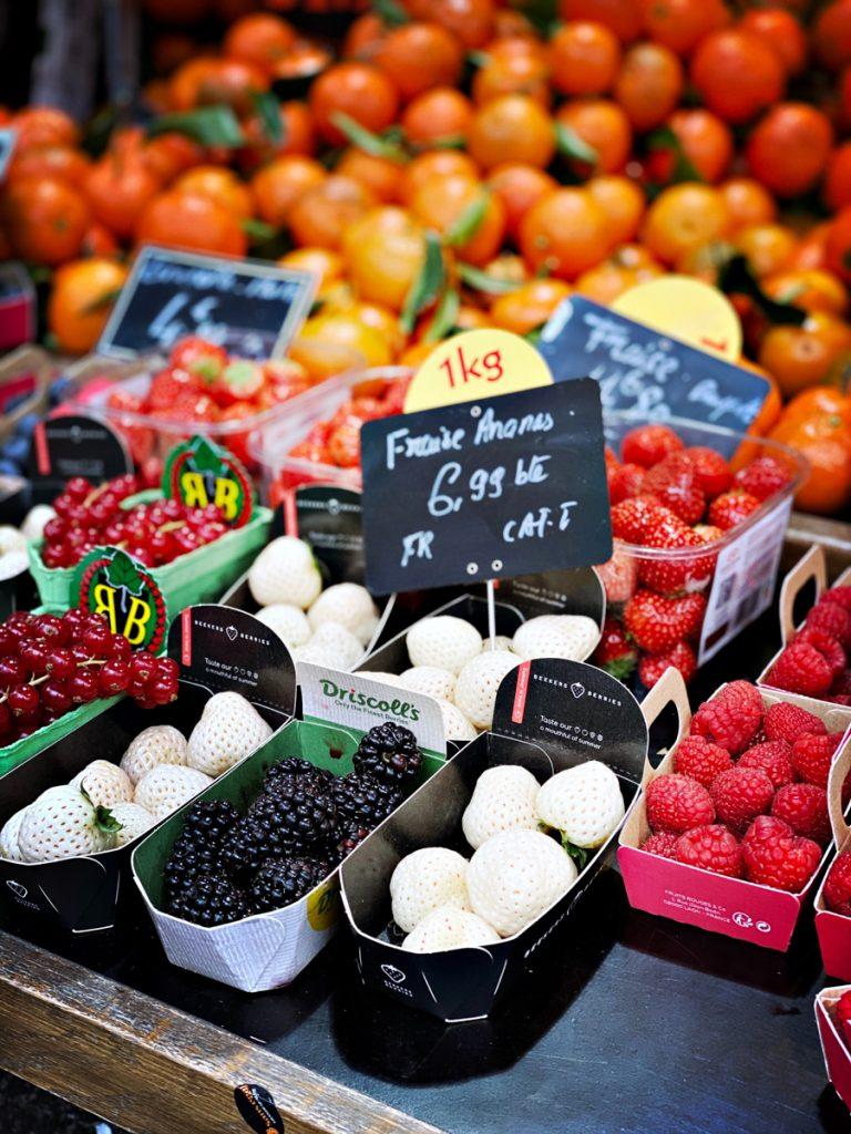 Fruit op de markt in Frankrijk