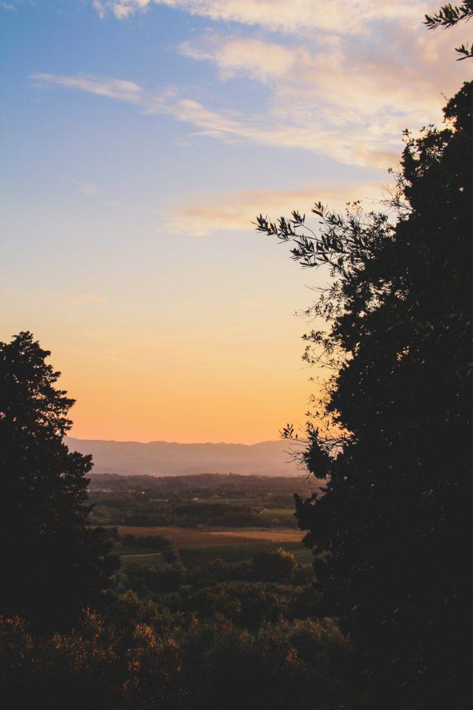 Zonsondergang in Arezzo