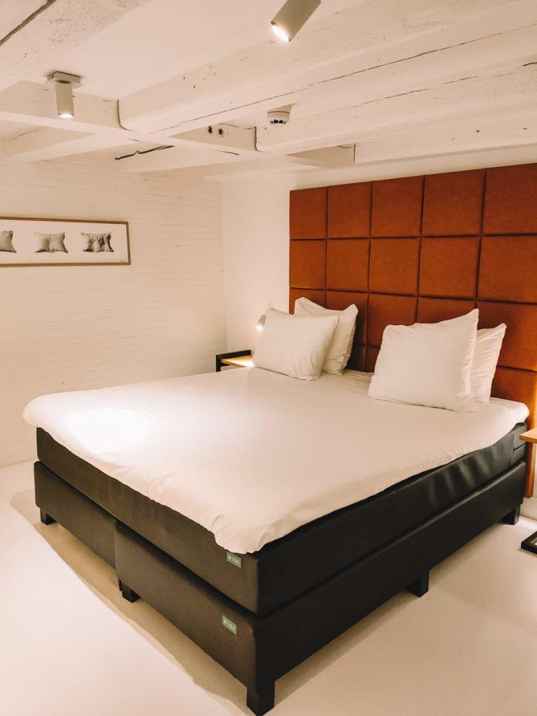 Slaapkamer van het appartement in Amsterdam