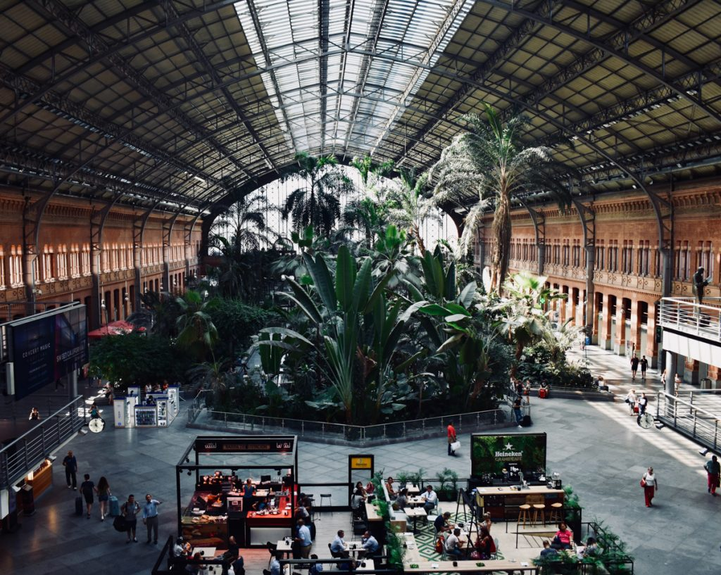 Het treinstation van Madrid