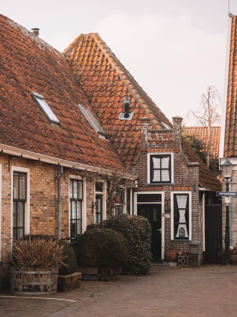 Huizen in Oosterend op Texel