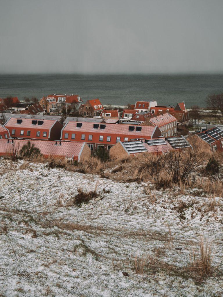Uitzicht op het dorp van Vlieland van de vuurtoren