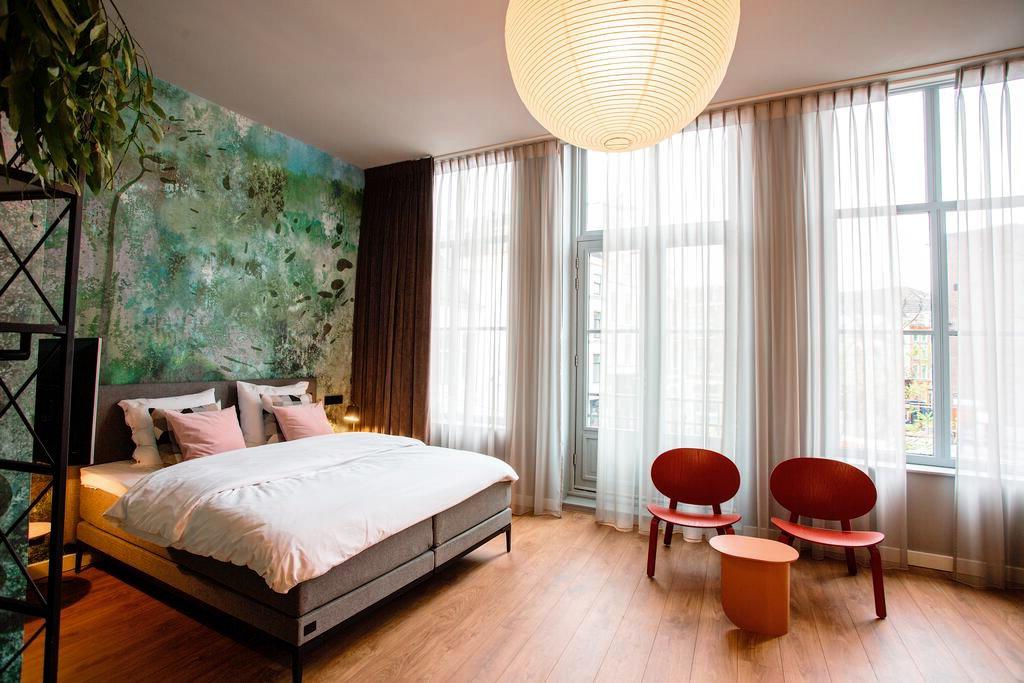 Een kamer van Daen's Greenhouse, een van de mooiste hotels van Utrecht