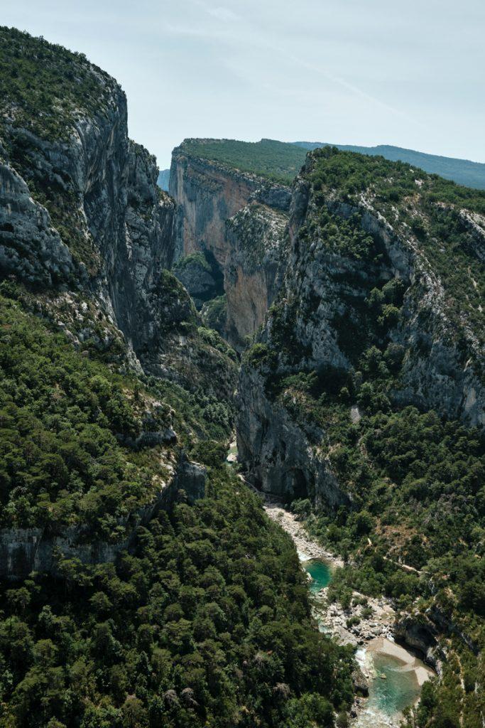 Een van de mooiste uitzichten bij Gorges du Verdon