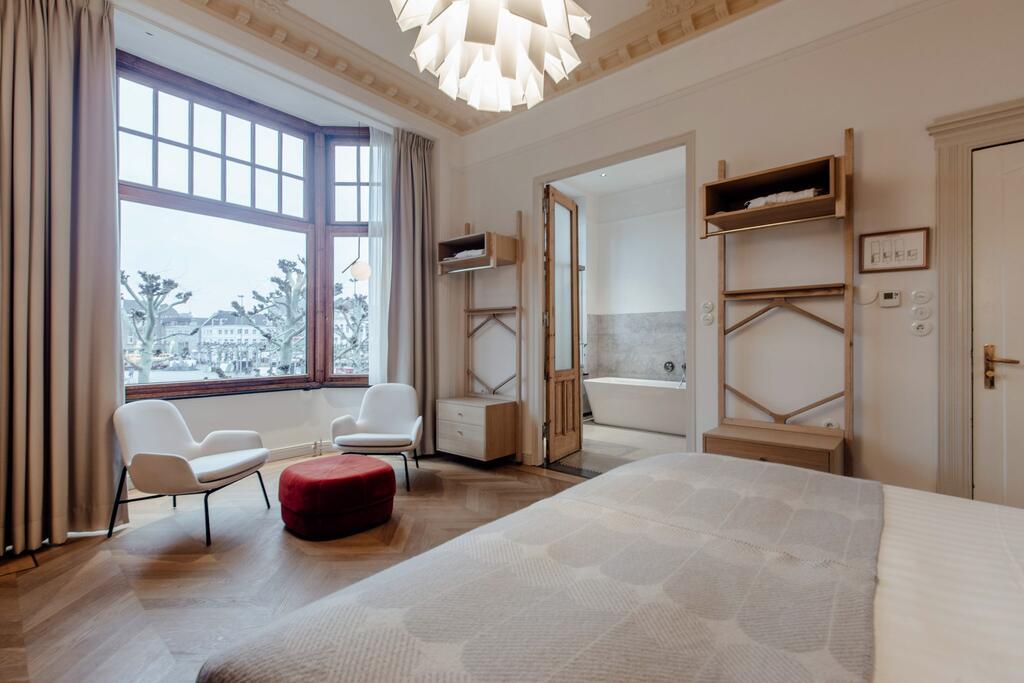 Het lichte doch luxe interieur van Maison Haas Hustinx & Spa, een van de leukste boutique hotels van Maastricht voor een staycation
