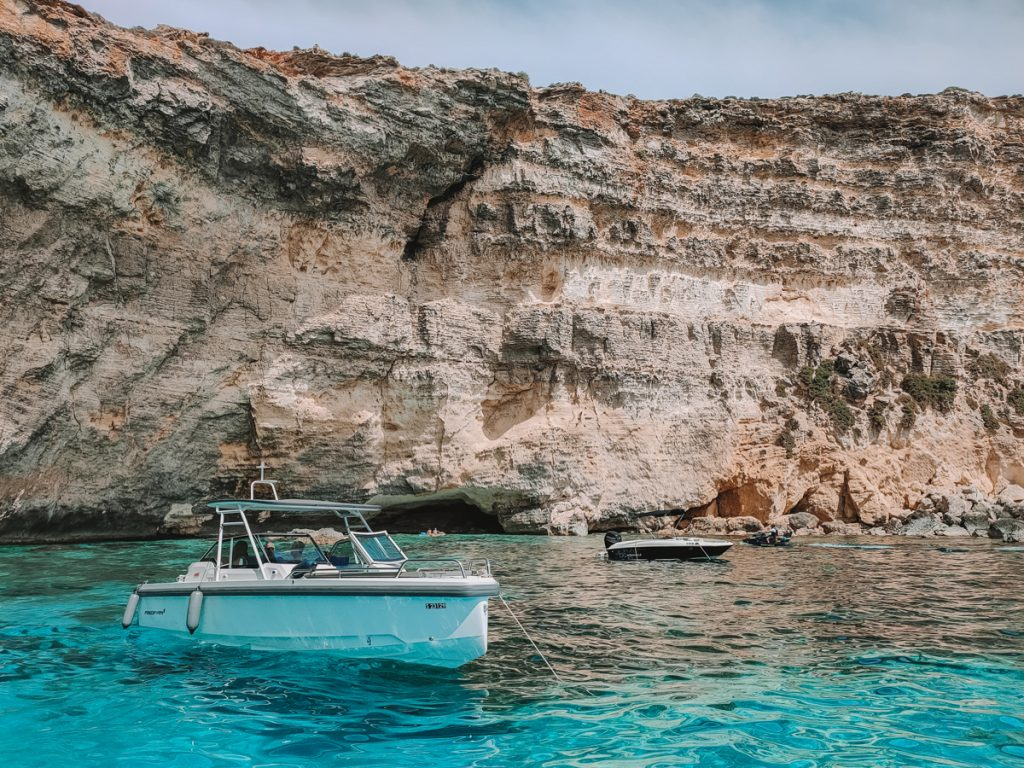 De Blue Lagoon bij Comino eiland