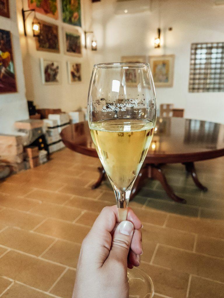 Een wijnproeverij op Malta