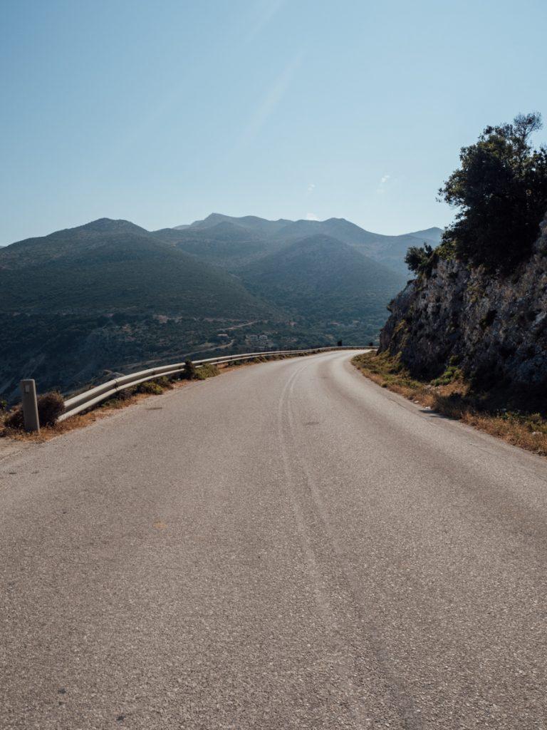 De wegen op Kefalonia