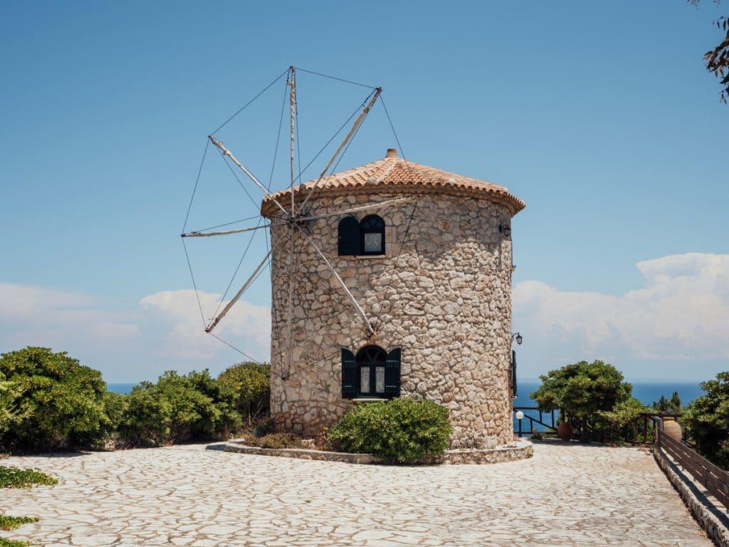 Een molen in het noorden van het eiland