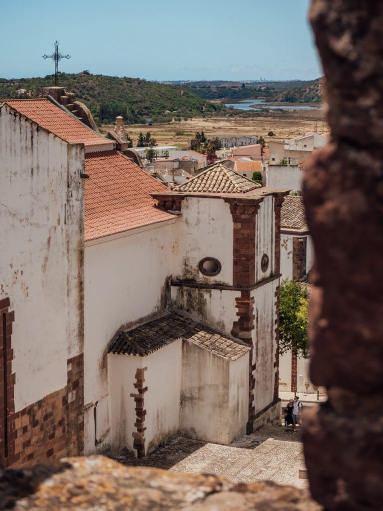 Het centrum van Silves in de Algarve, Portugal
