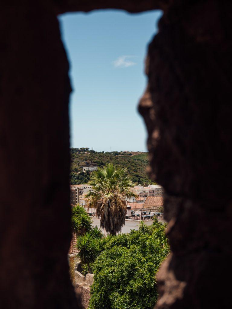 Uitzicht vanaf het kasteel van Silves in Portugal