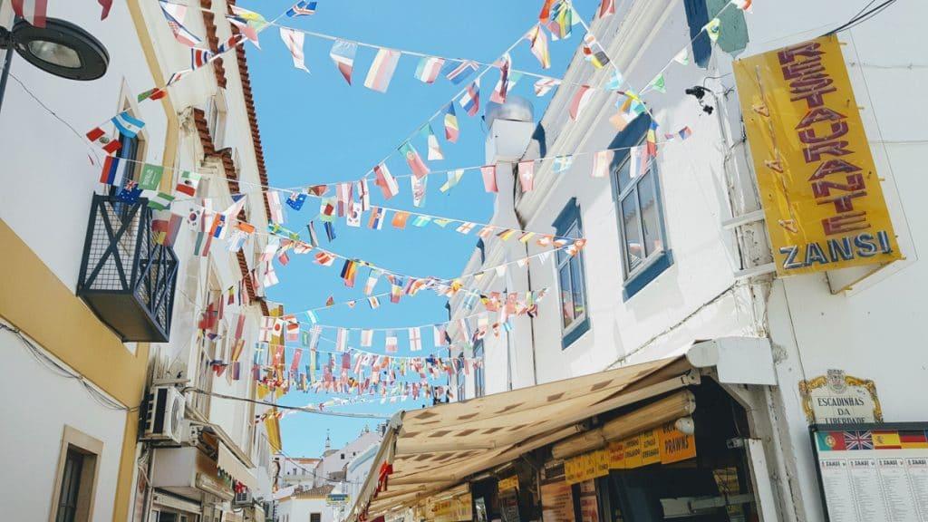 Het centrum van Albufeira