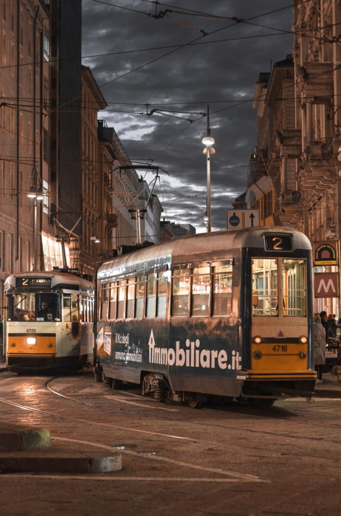 De tram in Milaan