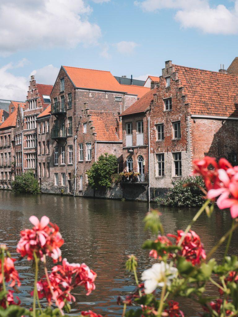 Gebouwen in het centrum van Gent